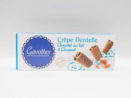 Produse franceze Biscuiți Gavottes ciocolată cu lapte și caramel