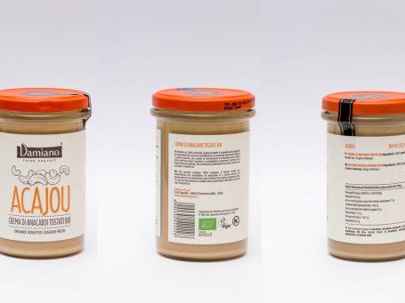 Produse organice Cremă Damiano din caju BIO prăjite