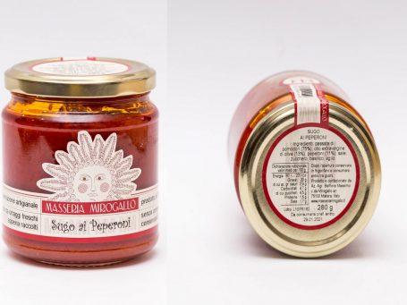Produse italiene Pastă de roșii cu ardei Masseria Mirogallo
