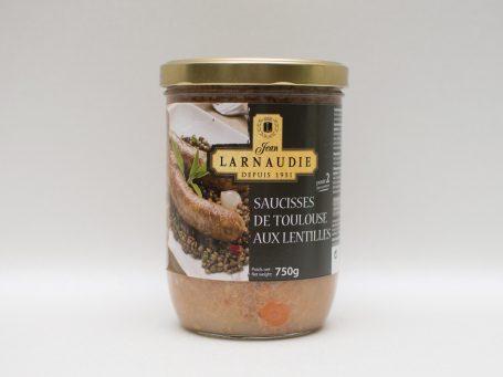 La nobilta del gusto Saucisses de Toulouse aux Lentilles